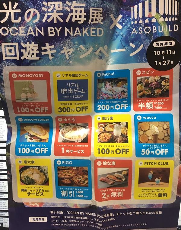 光の深海展(OCEAN BY NAKED)クーポン
