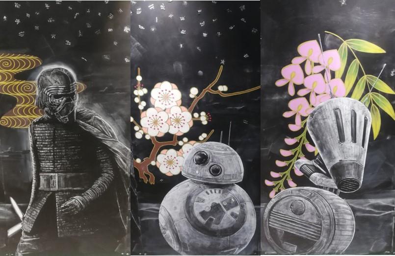 スターウォーズ展覧会 2019 汐留・日テレ 黒板アート